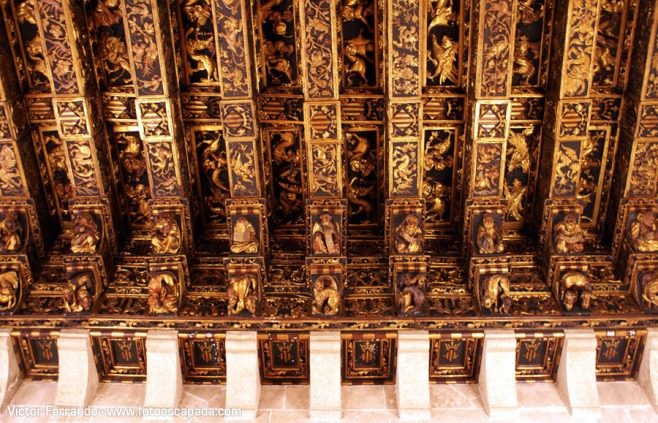 Detail of the ceiling